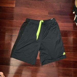Adidas Men's Athletic Shorts w/ green laces